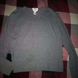 Charcoal Gray V-Neck Talbots Sweater Size M